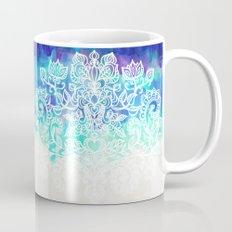 Indigo & Aqua Abstract - doodle painting Mug