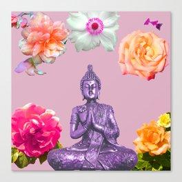 Lavender Buddha Canvas Print