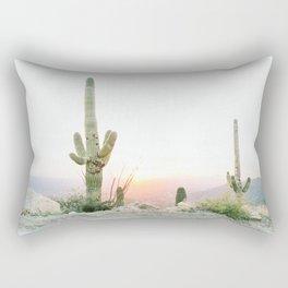 arizona desert print of a saguaro, cactus print, botanical print, cactus wall art Rectangular Pillow