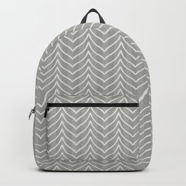 Boho Chevron and Stripes in Olive Gray Backpack