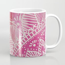 Mandala flower on watercolor background - pink Coffee Mug