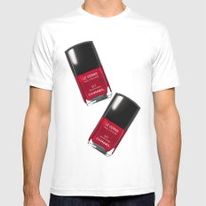 Nail Polish Rouge Rubis White MEDIUM Mens Fitted Tee