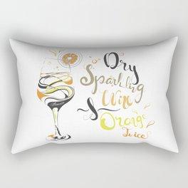 Cocktail Art: Mimosa Rectangular Pillow