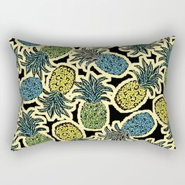 Pineapple Pandemonium - Retro Tones Rectangular Pillow