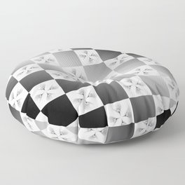 Pussy Checkerboard Abstract Floor Pillow