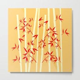 Happy Bright Bamboo Metal Print