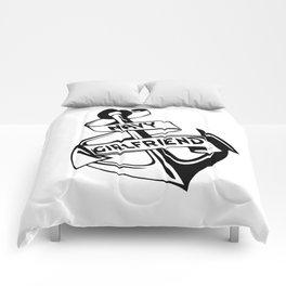 Navy Girlfriend Comforters