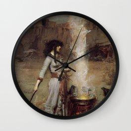 The Magic Circle, John William Waterhouse Wall Clock
