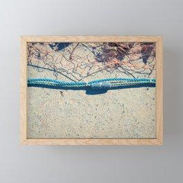 Fishnet with sinker on rope Framed Mini Art Print
