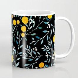 Oranges Black Coffee Mug