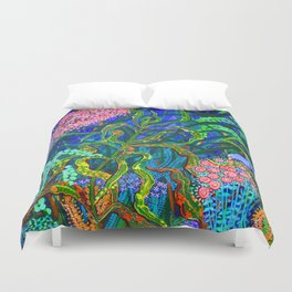 Bluebirds of Happiness Duvet Cover