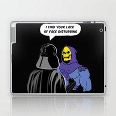 Vader Skeletor I Find your lack of face disturbing  Laptop & iPad Skin