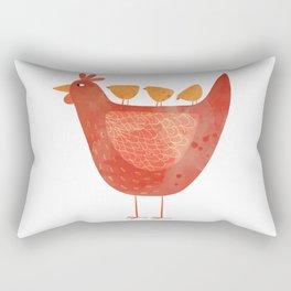 Hen and Chicks Rectangular Pillow