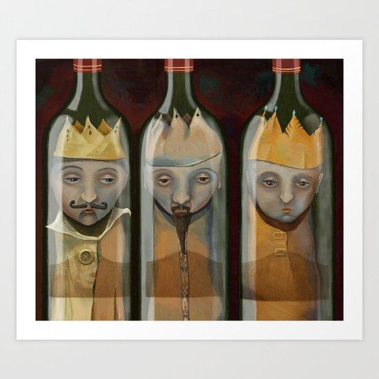 Bottled Kings Art Print