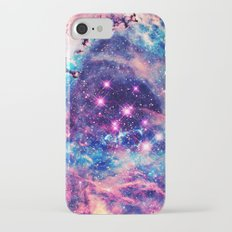 Trendy Pastel Pink Blue Nebula Girly Stars Galaxy iPhone 7 Slim Case