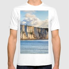 Cretaceous rocks of Dover White Mens Fitted Tee MEDIUM
