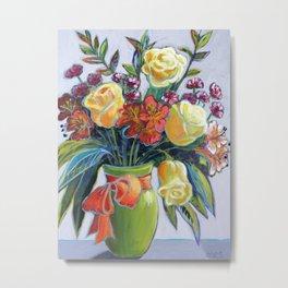 HAPPY BIRTHDAY FLOWERS Metal Print