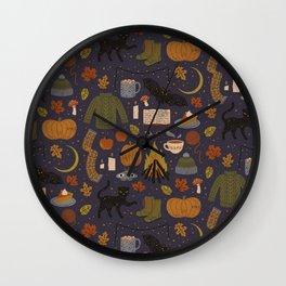 Autumn Nights Wall Clock