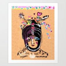 LIVE FOR LOVE Art Print