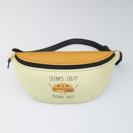 Sun's Out, Buns Out, Funny, Cute, Quote Fanny Pack