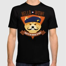 Hello wow, Omelette du Fromage So Much Black SMALL Mens Fitted Tee