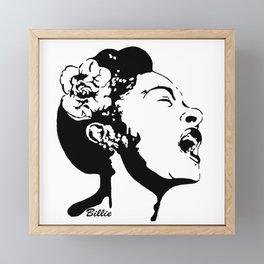 PORTRAIT OF AN AMERICAN FEMALE JAZZ SINGER Framed Mini Art Print