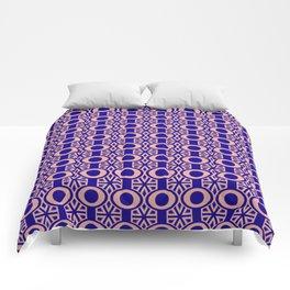 Blue Circles Retro Pattern Comforters
