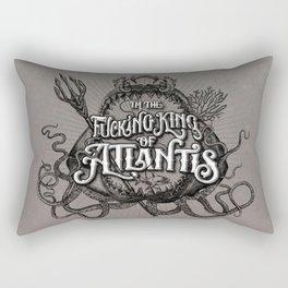 The Fucking King of Atlantis - b&w Rectangular Pillow