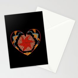 Hearts can be broken but strings will keep them together Stationery Cards