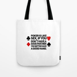 Poker Game gift idea Tote Bag