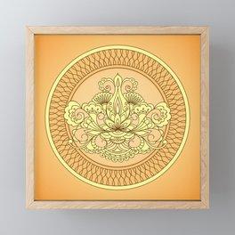 mehndi art orange Framed Mini Art Print