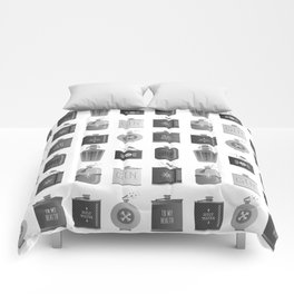 Flask Collection – Black Palette Comforters