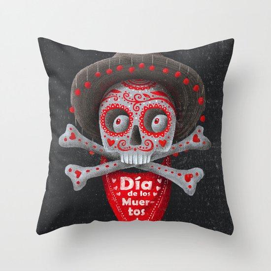 Día de Muertos Throw Pillow