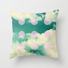 Clouds + Dots Throw Pillow
