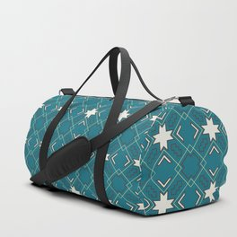 Ethnic pattern in blue Duffle Bag