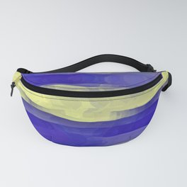 Sun Rays, Wind and Cobalt Sky Abstract Fanny Pack
