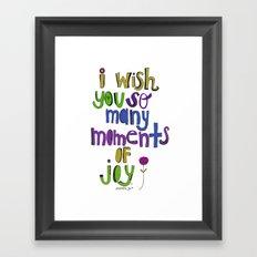 Moments of Joy. Framed Art Print