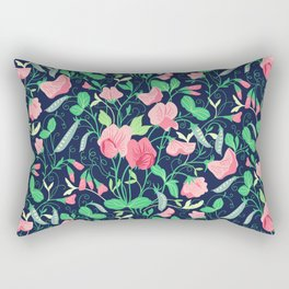 Pretty floral pattern. Sweet Pea. Rectangular Pillow