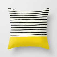 Sunshine x Stripes Throw Pillow