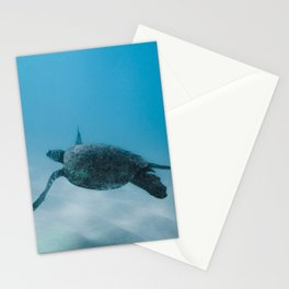 Turtle In The Sea Stationery Cards
