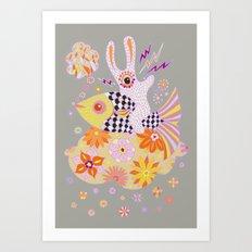 Fish Rider Art Print