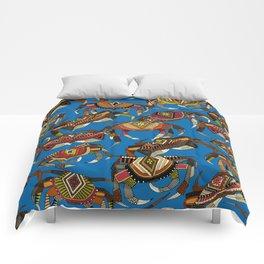 crabs blue Comforters