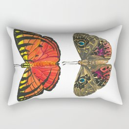 Vibrant Butterflies - red & yellow with tiger stripes, brown with blue eyes Rectangular Pillow