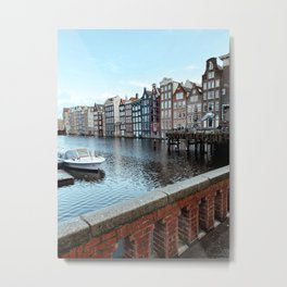 Colorful Dutch Canal Houses   City Amsterdam The Netherlands   Europe Travel Photography Art Print Metal Print