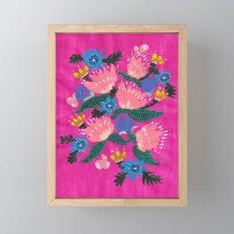 Pink Peonies Framed Mini Art Print