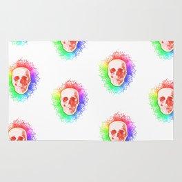 Skulls Rainbow Colorful life Rug