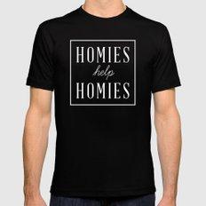 Homies Help Homies LARGE Mens Fitted Tee Black