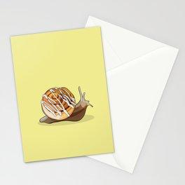 Cinnamon Bun Snail Stationery Cards