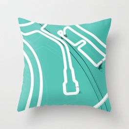 Neon Turntable 3 - 3D Art Throw Pillow