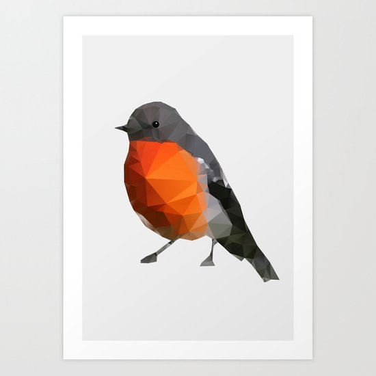Geo - Robin Art Print